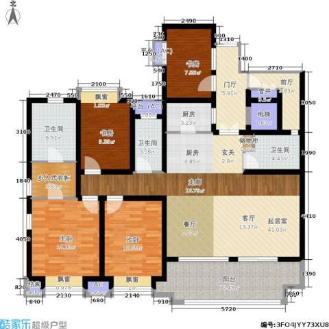 长发都市诸公4室0厅3卫1厨155.00㎡户型图