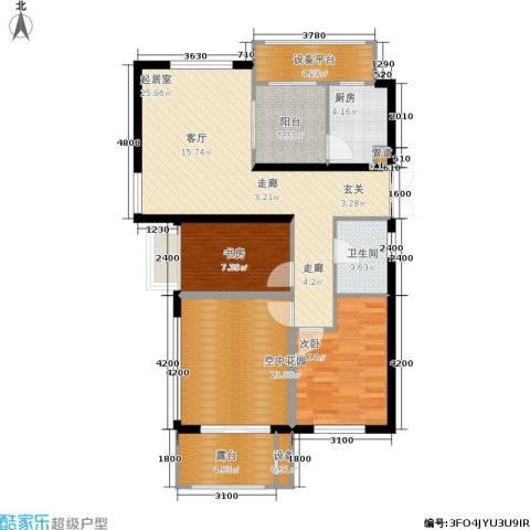 米兰风景2室0厅1卫1厨89.00㎡户型图