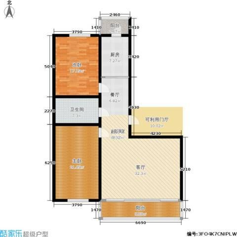 畅心园2室0厅1卫1厨122.00㎡户型图