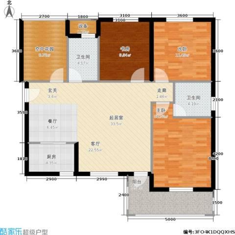 红树湾3室0厅2卫1厨116.00㎡户型图