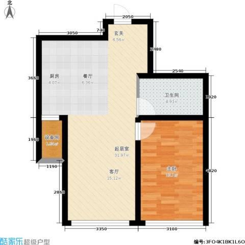 香榭丽花园1室0厅1卫0厨73.00㎡户型图