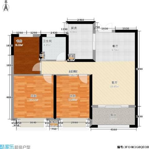 中南世纪花城3室0厅1卫1厨94.61㎡户型图