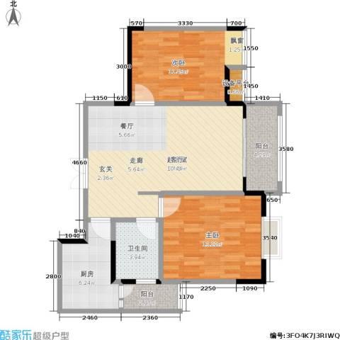 春天印象2室0厅1卫1厨83.00㎡户型图