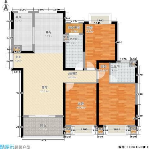 中南世纪花城3室0厅2卫1厨135.56㎡户型图