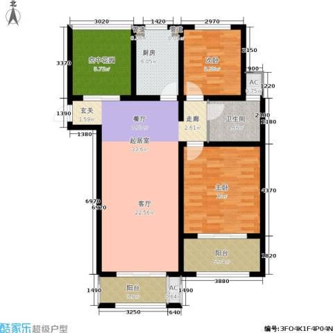 景栊湾(售罄)2室0厅1卫1厨105.00㎡户型图