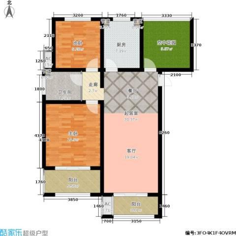 景栊湾(售罄)2室0厅1卫1厨107.00㎡户型图