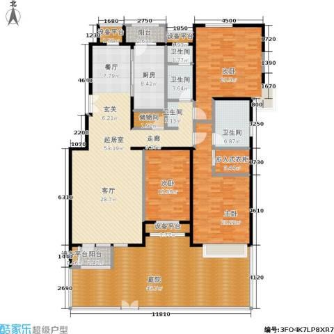 意林小镇3室0厅3卫1厨210.73㎡户型图