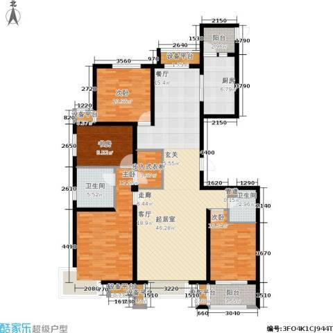 宏宇城4室0厅2卫1厨178.00㎡户型图