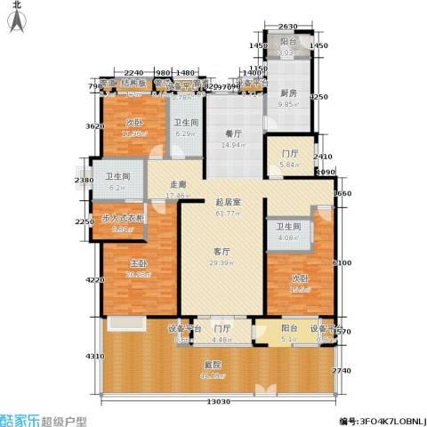 意林小镇3室0厅3卫1厨230.38㎡户型图