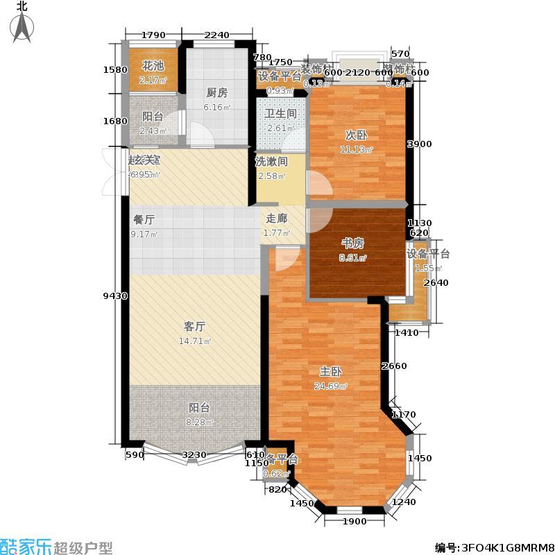 中南世纪花城118.00㎡12#楼B6户型