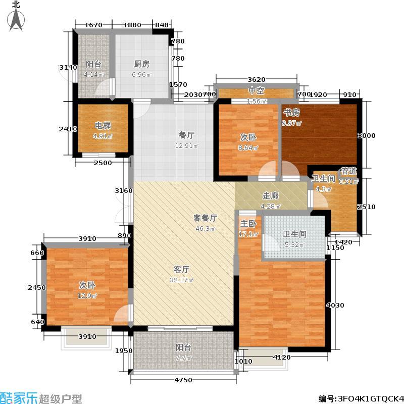 恒大翡翠龙庭149.00㎡恒大・翡翠龙庭6-1/6-2号楼A户型