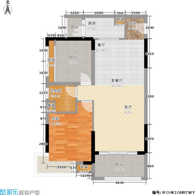 中交龙海名都一期83.00㎡1235楼-010户型