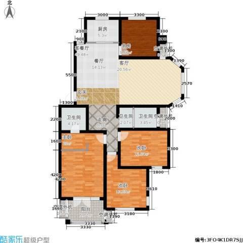 绿地华庭4室1厅2卫1厨161.00㎡户型图