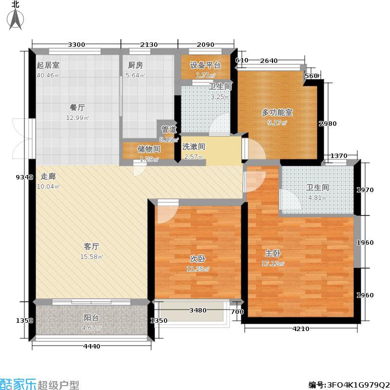 中南世纪花城117.00㎡28#楼B6户型