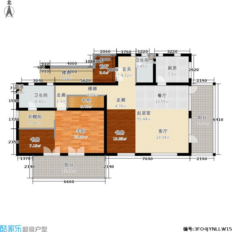 社会山有墅212.00㎡一期7号楼二层A6户型