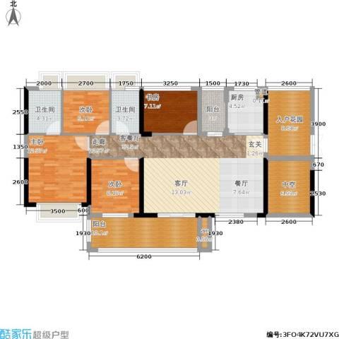 T PARK时尚公园4室1厅2卫1厨132.00㎡户型图