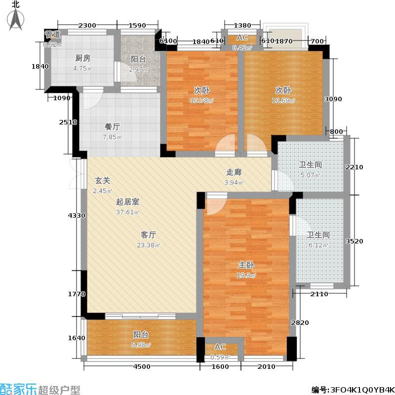融汇半岛香山美墅124.00㎡B5户型3室2厅