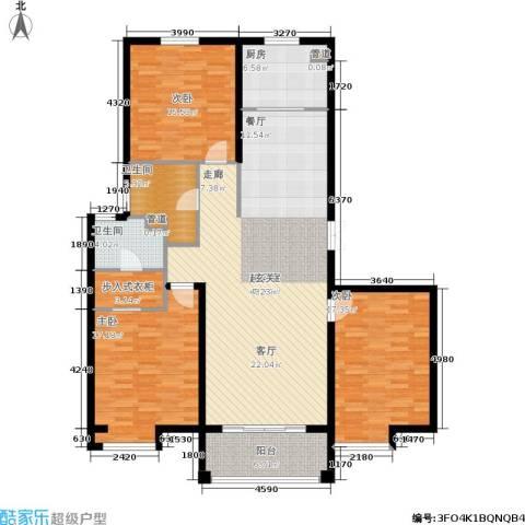 新兴国际文教城3室0厅2卫1厨139.00㎡户型图