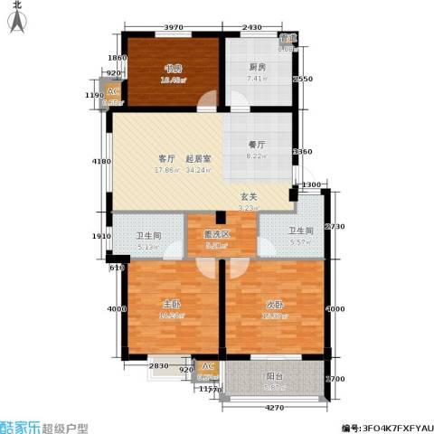 伊美翡翠城3室0厅2卫1厨141.00㎡户型图