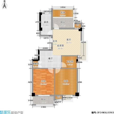 香悦美地2室0厅1卫1厨112.00㎡户型图
