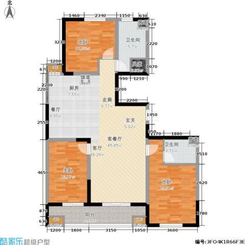 上城上林苑3室1厅2卫0厨151.00㎡户型图