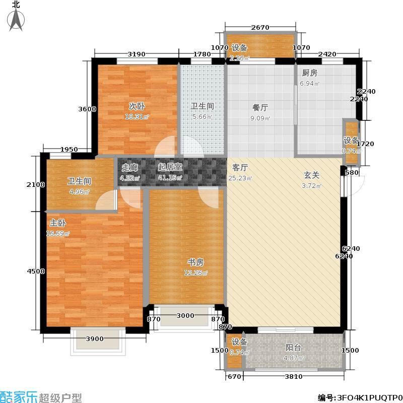 鲁能·7号院135.00㎡四期C户型3室2厅