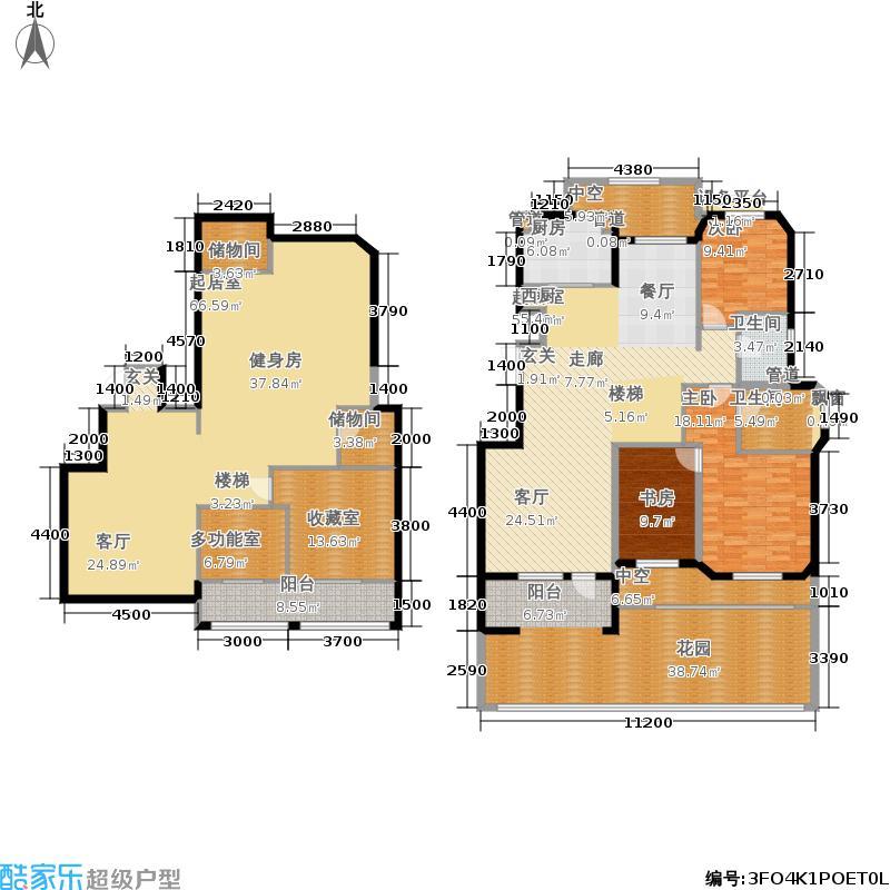 西山艺境(傲山湾)140.00㎡西山艺境褐石洋房B'户型3室2厅