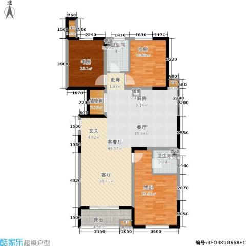 上城上林苑3室1厅2卫0厨145.00㎡户型图
