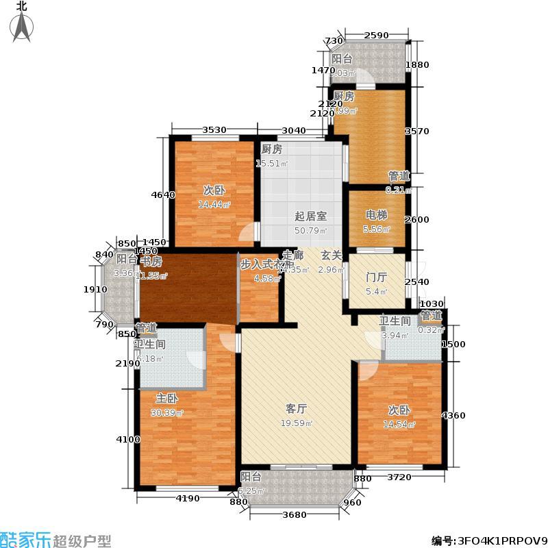 尚汇豪庭184.00㎡L户型4室2厅