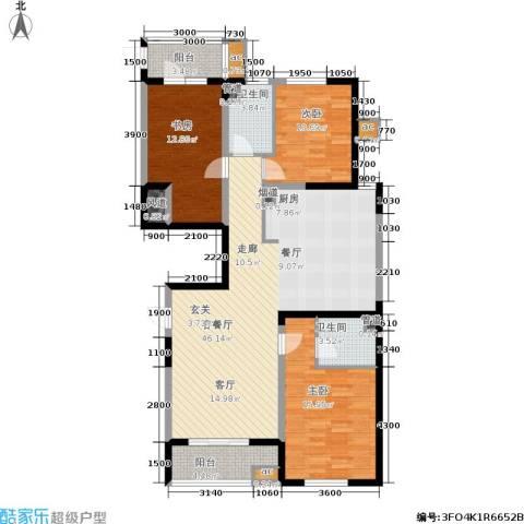 上城上林苑3室1厅2卫0厨149.00㎡户型图