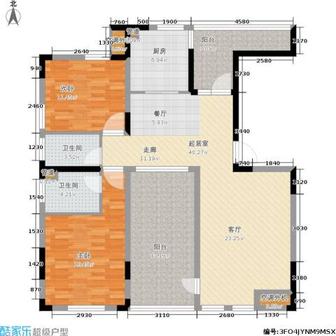 社会山有墅2室0厅2卫1厨124.00㎡户型图