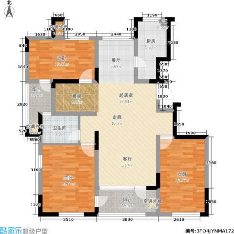 社会山有墅3室0厅1卫1厨212.00㎡户型图