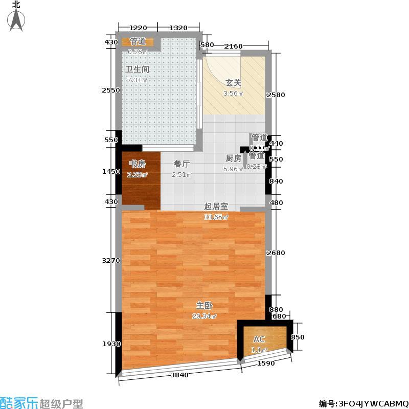 苏州太湖城仕高尔夫酒店公寓48.00㎡一期1#标准层B户型