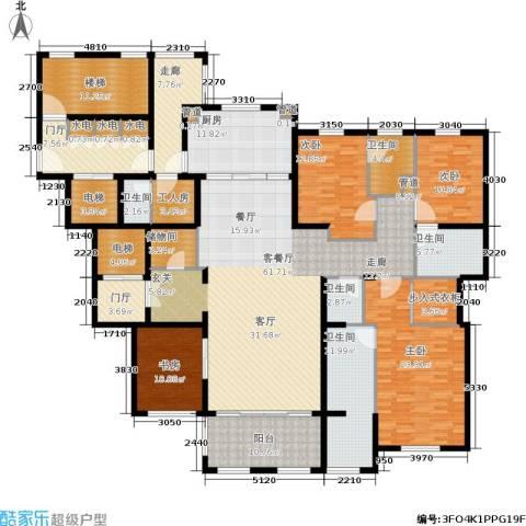 华润新江湾九里4室1厅5卫1厨251.00㎡户型图