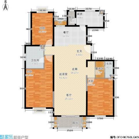 园丁小区3室0厅2卫1厨201.00㎡户型图