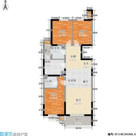 上城上林苑3室0厅2卫1厨140.00㎡户型图
