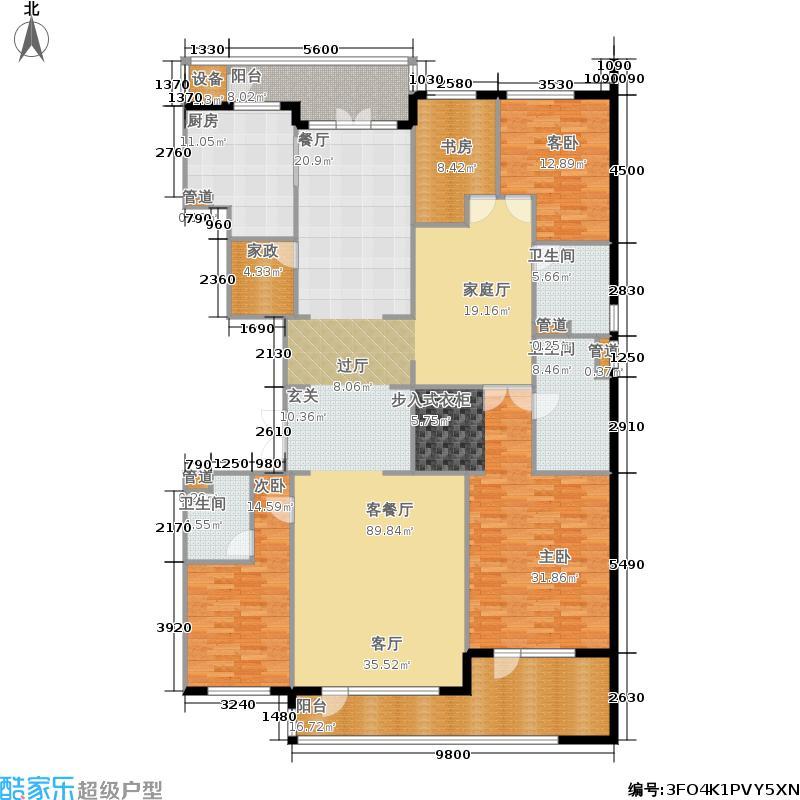 五矿万科·如园264.00㎡C4户型4室4厅