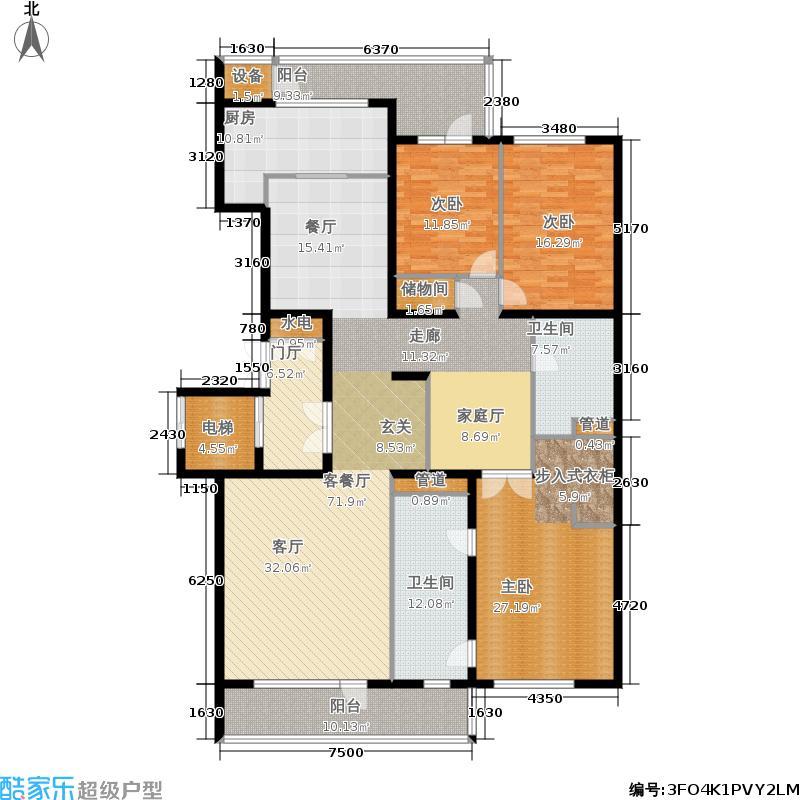 五矿万科·如园227.00㎡D户型3室2厅