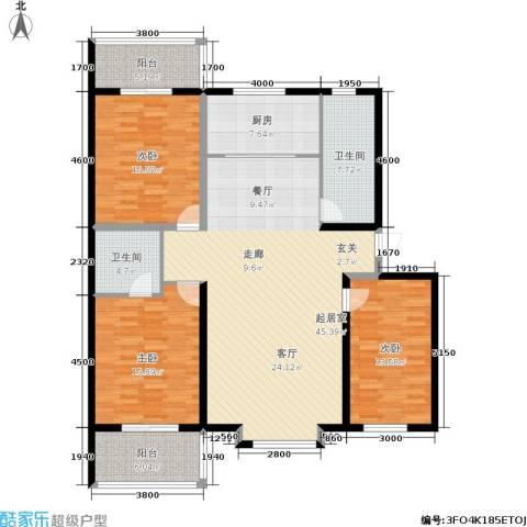 金沃向阳城3室0厅2卫1厨136.57㎡户型图