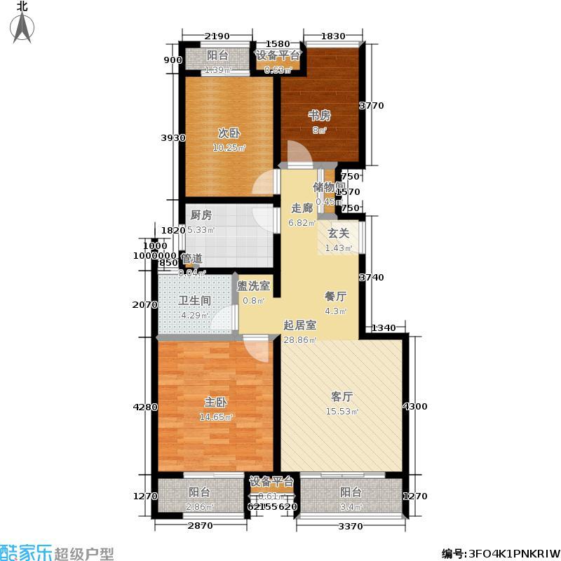 中建·国际城95.00㎡7、8号楼A1户型3室2厅