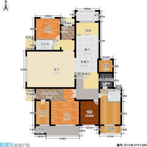 五矿万科·如园4室1厅3卫1厨260.00㎡户型图