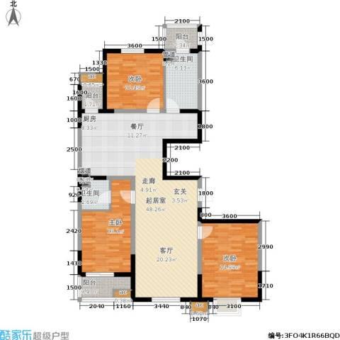 上城上林苑3室0厅2卫0厨152.00㎡户型图