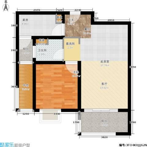 东渡青筑1室0厅1卫1厨68.00㎡户型图