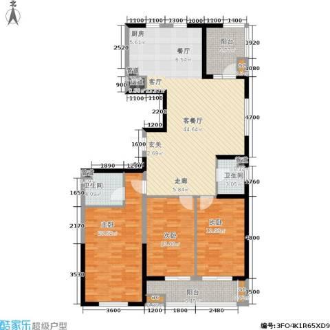 上城上林苑3室1厅2卫0厨159.00㎡户型图