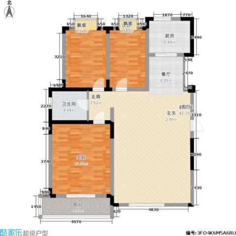 富海・城市印象3室0厅1卫1厨155.00㎡户型图