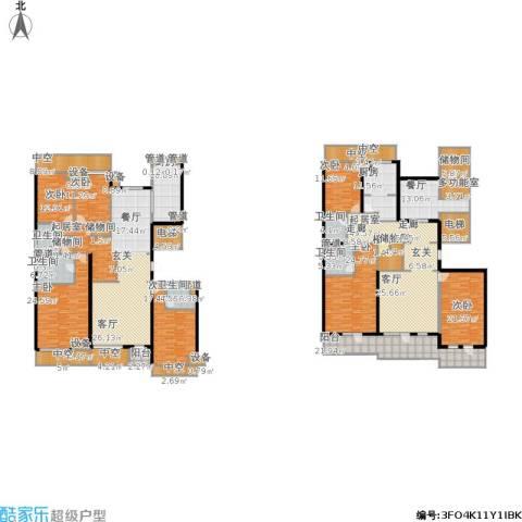 华润公元九里7室1厅5卫2厨519.00㎡户型图