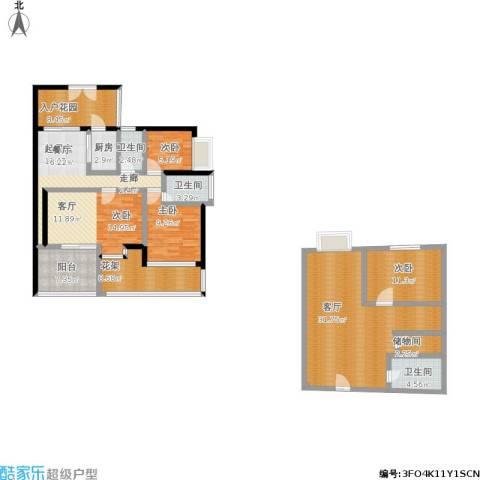 金港盛世华庭4室1厅3卫1厨184.00㎡户型图