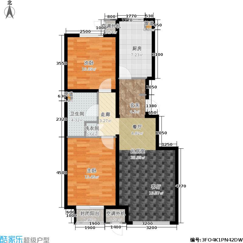 中粮万科长阳半岛89.00㎡五号地04地块6、7号楼A户型2室2厅