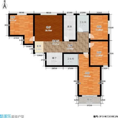 居然嘉园4室1厅2卫1厨176.00㎡户型图