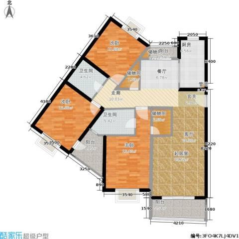 宝虹新苑3室0厅2卫1厨130.00㎡户型图